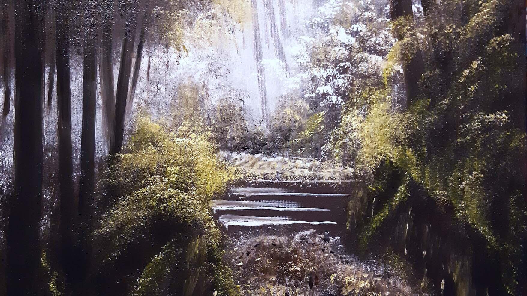 Sentiero di Luce, olio su tela, 50 x 40