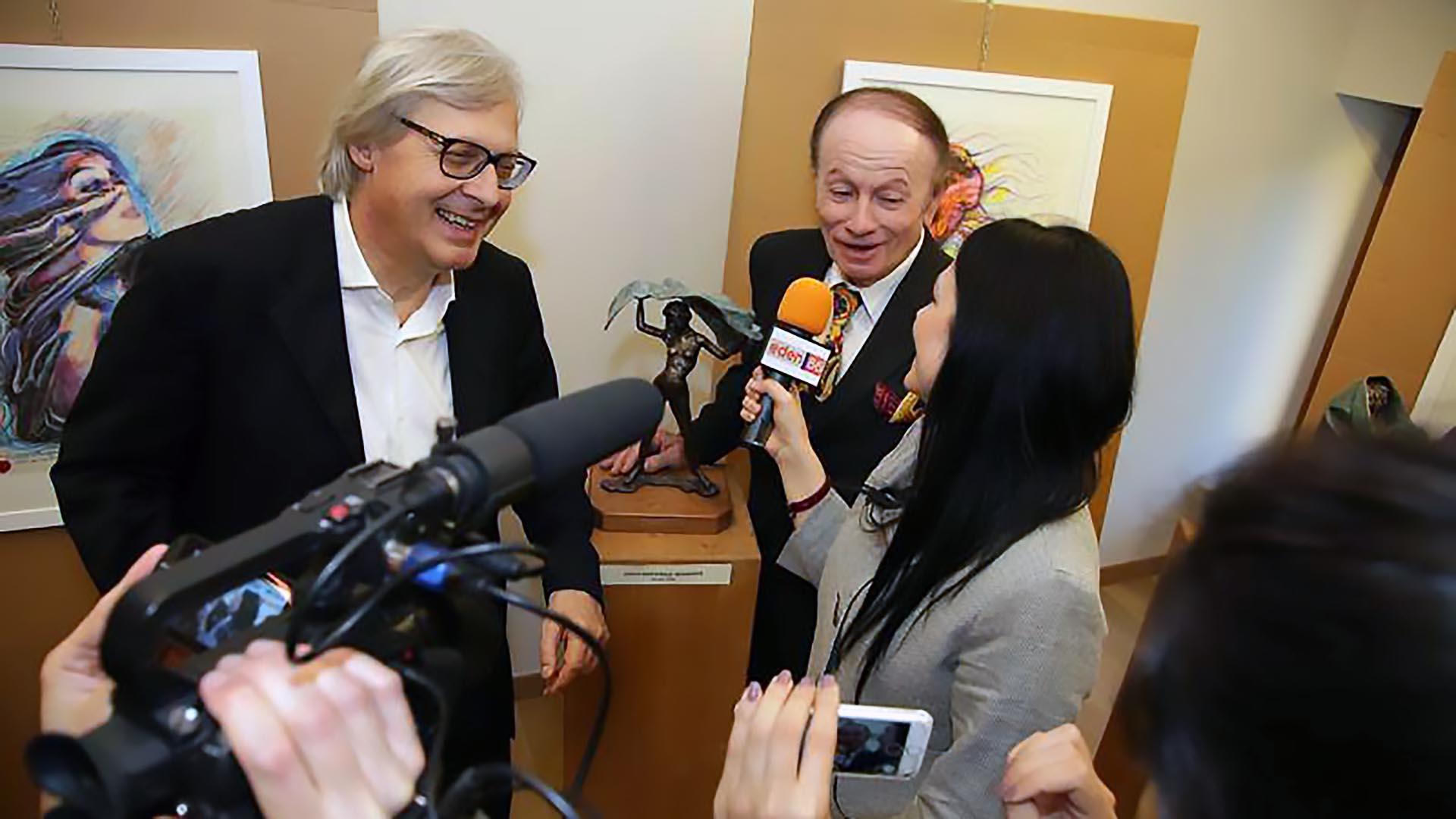 Vesna Maria Brocca con Sgarbi